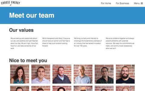 Meet the team - Choose Energy