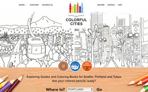 Screenshot of Home Page colorfulcities.com - Colorful Cities - Where Will You Explore Today? Coloring Books - captured Aug. 16, 2017