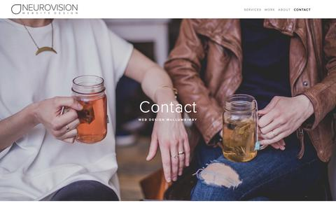 Screenshot of Contact Page neurovision.com.au - Contact — Web Design Mullumbimby | Neurovision - captured Oct. 24, 2018