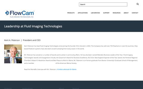 Screenshot of Team Page fluidimaging.com - Fluid Imaging Technologies | Leadership - captured Oct. 10, 2018