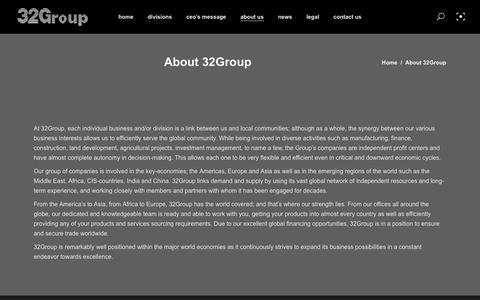 Screenshot of About Page 32group.com - About 32Group – 32 Group - captured Oct. 20, 2018