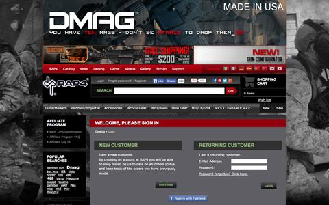 Screenshot of Login Page rap4.com - RAP4 - captured Oct. 26, 2014