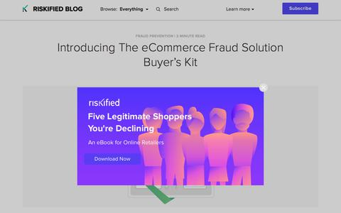 Screenshot of Team Page riskified.com - Introducing The eCommerce Fraud Solution Buyer's Kit | Riskified Blog - captured Feb. 20, 2020