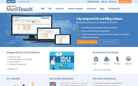 Screenshot of Case Studies Page healthfusion.com - MediTouch EMR / EHR Software Simplifies Practice Workflow – HealthFusion - HealthFusion - captured Jan. 12, 2018