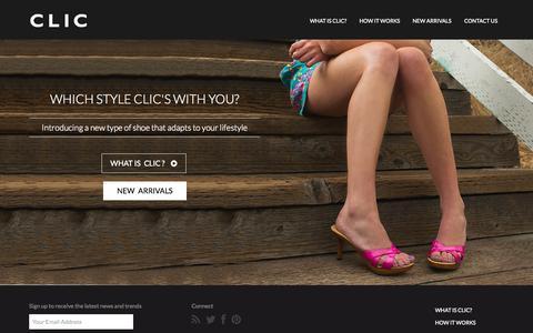 Screenshot of Home Page cliclifestyle.com - CLIC Lifestyle | CLIC LIfestyle - captured Sept. 26, 2014