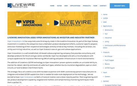 Screenshot of Press Page livewireinnovation.com - News - LiveWire Innovation - captured Nov. 5, 2018