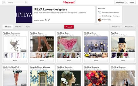 Screenshot of Pinterest Page pinterest.com - IPILYA Luxury designers on Pinterest - captured Oct. 23, 2014