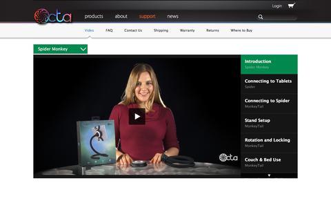 Screenshot of Support Page octa.com - Video Gallery   Octa - captured June 16, 2017