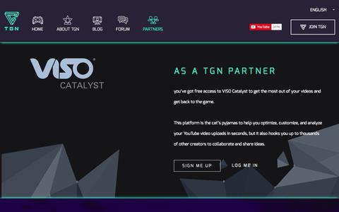 Screenshot of Services Page tgn.tv - Partners - The Gamers Network - captured Sept. 24, 2014