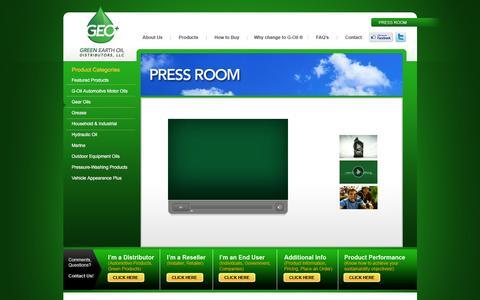 Screenshot of Press Page greenoilplus.com - Green Earth Oil - captured Feb. 2, 2016