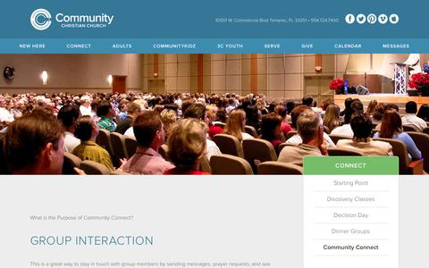 Screenshot of Login Page communitycc.com - Community Connect : Community Christian Church - captured Jan. 29, 2016