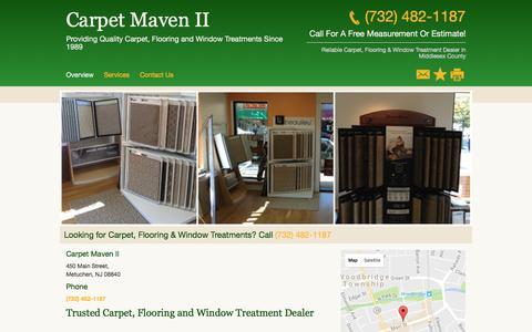 Screenshot of Home Page carpetmaven.net - Carpet and Rug Dealers - Carpet Maven II- Metuchen - NJ - captured Jan. 30, 2017