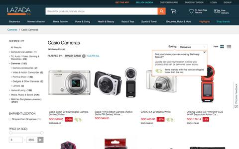 Buy Casio Cameras Collection Singapore | Lazada