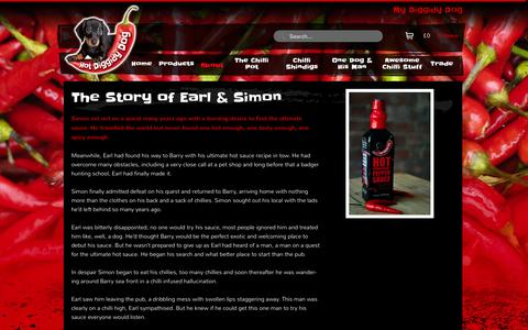 Screenshot of About Page doggidy.com - We are Hot Diggidy Dog - Chilli Mad for Chilli SauceHot Diggidy Dog - captured Sept. 23, 2014