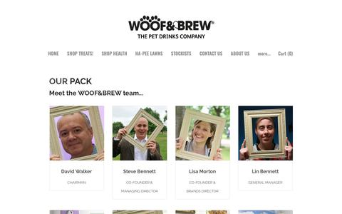 Screenshot of Team Page woofandbrew.com - About Us - WOOF&BREW The Pet Drink Specialists - WELCOME TO WOOF&BREW - the pet drinks specialists - captured Oct. 18, 2018