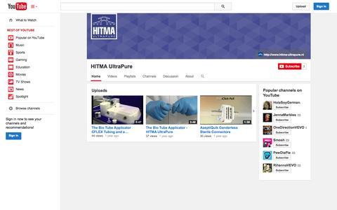 Screenshot of YouTube Page youtube.com - HITMA UltraPure  - YouTube - captured Oct. 22, 2014