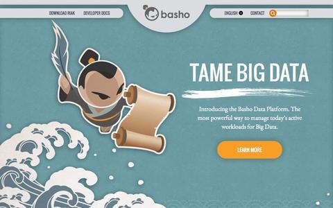Screenshot of Home Page basho.com - Big Data Platform | Enterprise Distributed NoSQL & Object Storage | Basho - captured Oct. 1, 2015