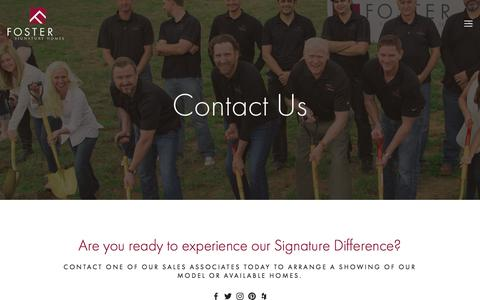 Screenshot of Contact Page fostersignaturehomes.com - Contact | New homebuilders in Edmond | Custom homes builders in edmond ok - captured June 6, 2017