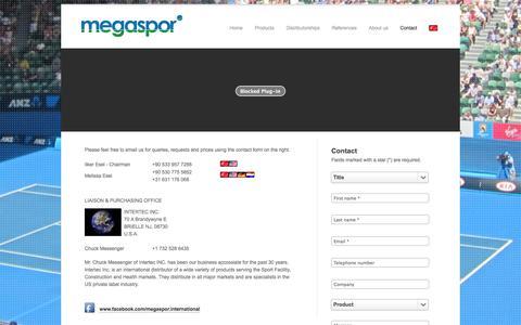 Screenshot of Contact Page megaspor.com - Megaspor - Contact - captured Oct. 27, 2014