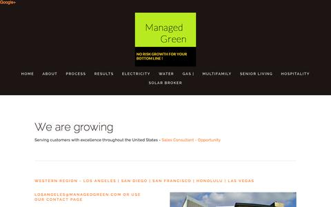 Screenshot of Locations Page managedgreen.com - Locations — Managed Green - captured July 21, 2015