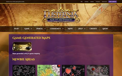 Screenshot of Maps & Directions Page lusternia.com - Maps – Lusternia - captured Sept. 19, 2017