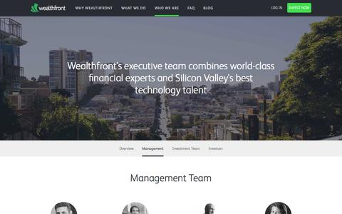 Screenshot of Team Page wealthfront.com - Investment Management, Online Financial Advisor | Wealthfront - captured Oct. 22, 2015