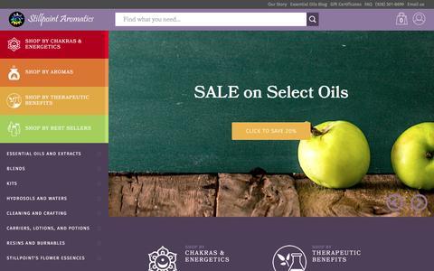 Screenshot of Home Page stillpointaromatics.com - Welcome to Stillpoint Aromatics - captured Aug. 19, 2016
