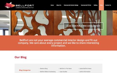 Screenshot of Blog bellfort.com.au - Interior design and fit out news - latest news from the Bellfort Blog pages - captured Nov. 22, 2016