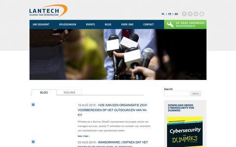 Screenshot of Blog lantech.nl - Blogs Archief - Lantech - captured Oct. 25, 2016