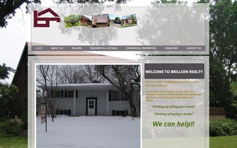 Screenshot of Home Page brillionhomes.com - Real Estate Agent - Residential and Commercial Properties | Brillion Realty, LLC - captured Feb. 8, 2016