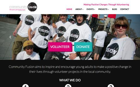 Screenshot of Home Page community-fusion.org - Community Fusion - Youth Volunteer Charity in Portsmouth - captured July 4, 2015