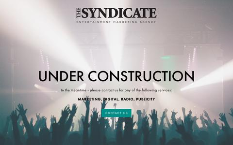 Screenshot of Home Page thesyn.com - The Syndicate - captured Nov. 19, 2018