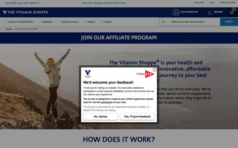 Affiliate Program | The Vitamin Shoppe®