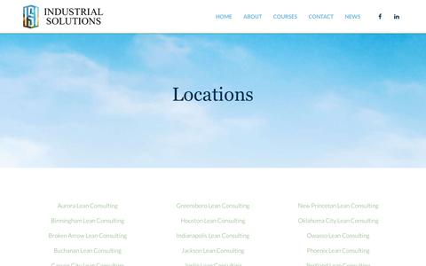 Screenshot of Locations Page isiworld.net - Locations - Industrial Solutions - captured Oct. 11, 2018