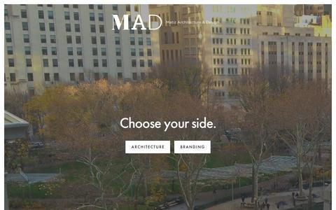 Screenshot of Home Page mad-nyc.com - Matiz Architecture & Design - captured Feb. 12, 2016