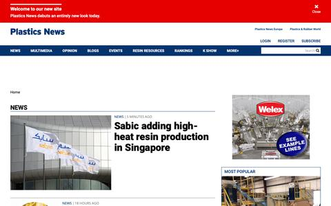 Screenshot of Press Page plasticsnews.com - News | Plastics News - captured May 24, 2019