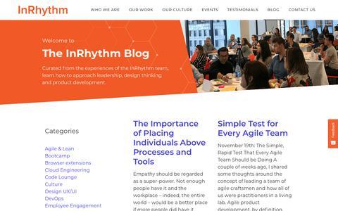 Screenshot of Blog inrhythm.com - Blog - InRhythm - captured Nov. 28, 2019