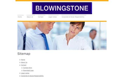Screenshot of Site Map Page blowingstone.com - Blowingstone - Home - captured Feb. 7, 2016