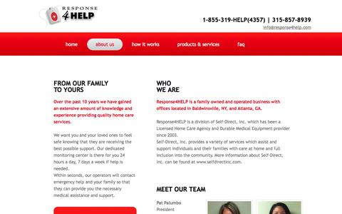 Screenshot of About Page Privacy Page response4help.com - Response4help in Baldwinsville, Ny : About - captured Oct. 25, 2014