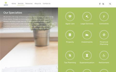 Screenshot of Services Page pracwealth.com.au - Services | Practical Wealth - captured Aug. 12, 2017