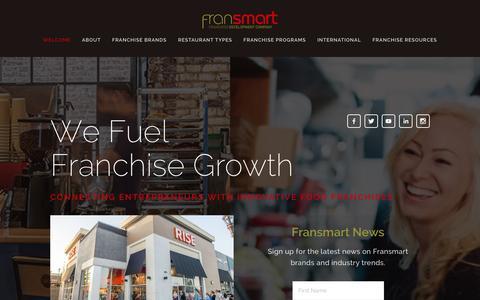 Screenshot of Home Page fransmart.com - Fransmart - captured Jan. 8, 2016