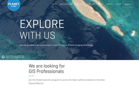 Screenshot of Signup Page planet.com - Planet Explorers Program - Planet Labs - captured Nov. 10, 2015