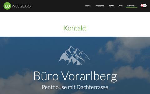 Screenshot of Contact Page webgears.at - Webgears Kontakt Č Telefon, E-Mail, Postadresse - captured Jan. 17, 2016