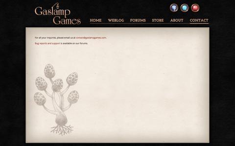 Screenshot of Contact Page gaslampgames.com - Contact | Gaslamp Games - captured Sept. 23, 2014