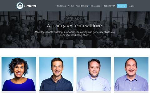 Screenshot of Team Page myemma.com - Meet us - Email Marketing Software   Emma Email Marketing - captured Jan. 4, 2017
