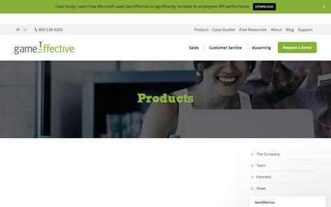 Screenshot of Products Page gameffective.com - Products - Gameffective - captured May 15, 2017
