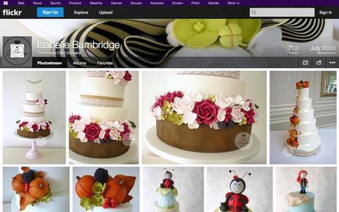 Screenshot of Flickr Page flickr.com - Flickr: The Designer Cake Company's Photostream - captured Oct. 26, 2014