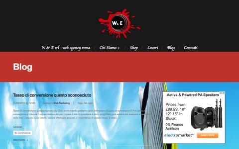 Screenshot of Blog wegroups.eu - W & E Srl - WEB AGENCY ROMA,AGENZIA SEO ROMA - W & E Srl – Web Agency Roma - captured Nov. 5, 2014