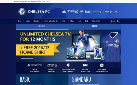 Screenshot of Signup Page chelseafc.com - Join the Club | Security | Official Site | Chelsea Football Club - captured Sept. 2, 2016