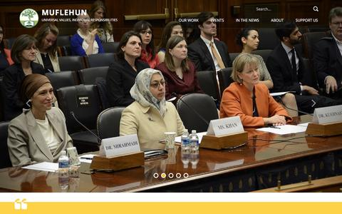 Screenshot of Home Page muflehun.org - Muflehun Đ Universal Values, Individual Responsibilities - captured Jan. 12, 2016